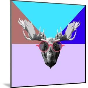 Party Moose in Glasses by Lisa Kroll