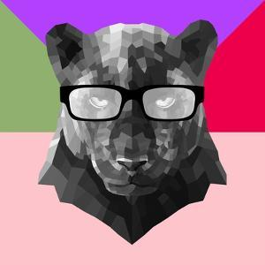 Party Panther in Glasses by Lisa Kroll