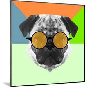 Party Pug in Yellow Glasses by Lisa Kroll