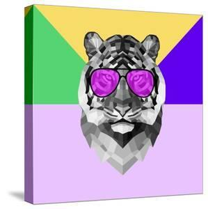 Party Tiger in Glasses by Lisa Kroll