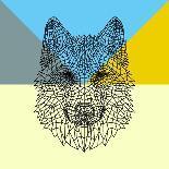 Party Pug in Yellow Glasses-Lisa Kroll-Art Print