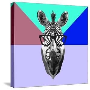 Party Zebra in Glasses by Lisa Kroll
