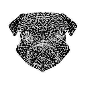 Pug Head Mesh by Lisa Kroll