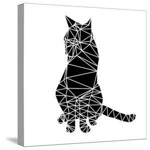Smart Black Cat Polygon by Lisa Kroll