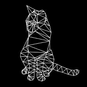 Smart Cat Polygon by Lisa Kroll
