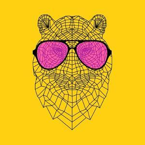 Tiger in Pink Glasses by Lisa Kroll