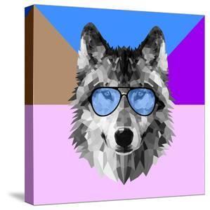 Woolf in Blue Glasses by Lisa Kroll
