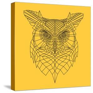 Yellow Owl Mesh by Lisa Kroll