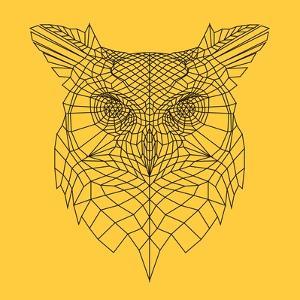 Yellow Owl Mesh by Lisa Kroll