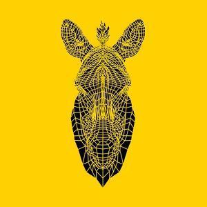 Yellow Zebra Mesh by Lisa Kroll
