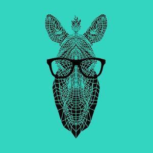 Zebra in Glasses by Lisa Kroll