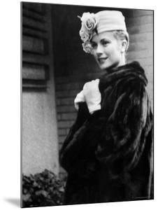 Actress Grace Kelly Posing Outside Her Apartment Building Before Leaving for Monaco by Lisa Larsen