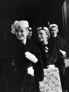 Actress Grace Kelly with Mother, Mrs. John D. Kelly and Sister Before Leaving for Wedding in Monaco by Lisa Larsen
