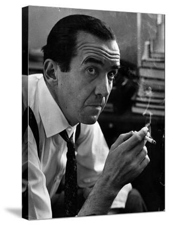 Broadcast Journalist Edward R. Murrow Smoking Cigarette