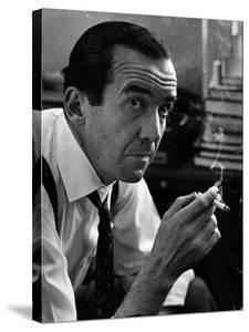 Broadcast Journalist Edward R. Murrow Smoking Cigarette by Lisa Larsen
