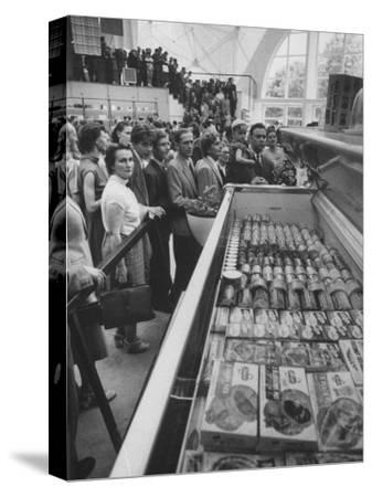 Crowds Checking Out Frozen Foods at the Us Exhibit, During the Poznan Fair