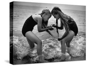Girls of the Children's School of Modern Dancing, Playing at the Beach by Lisa Larsen