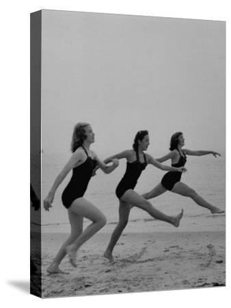 Girls of the Children's School of Modern Dancing, Rehearsing on the Beach