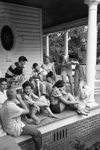 Lina Mccarroll Hosts 15 Visitors During Hospitality Weekend, Warrenton, North Carolina, 1951 by Lisa Larsen