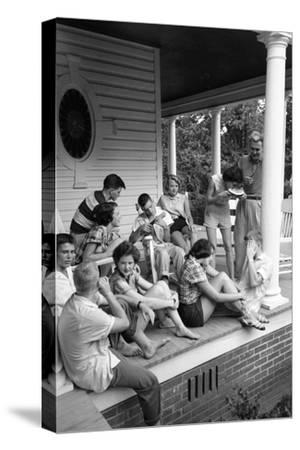 Lina Mccarroll Hosts 15 Visitors During Hospitality Weekend, Warrenton, North Carolina, 1951