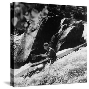 Phillipe Martin Balancing with His Paddle by Lisa Larsen