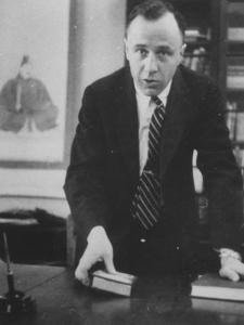 Physicist John A. Wheeler Attending a Meeting by Lisa Larsen
