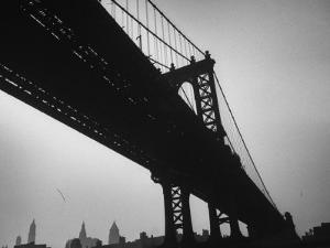Picture of Manhattan Bridge Taken from Almost Directly Underneath by Lisa Larsen