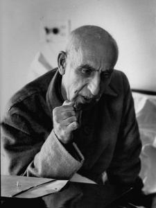 Premier Mohammed Mossadegh, Giving an Answer with a Forceful Fist Shake by Lisa Larsen