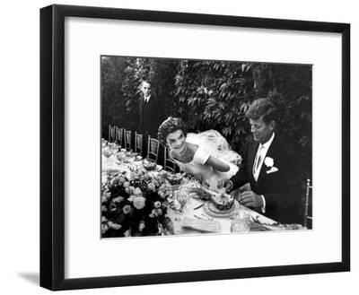 Sen. John Kennedy and His Bride Jacqueline in Their Wedding Attire