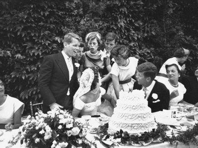 Senator John F. Kennedy with His Bride Jacqueline at Their Wedding Reception
