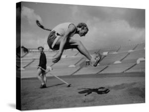 Soviet Athlete Alexandra Chundina Practicing for the Russian Olympics by Lisa Larsen