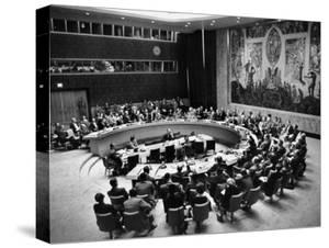 The Un Holding a Security Council Meeting by Lisa Larsen
