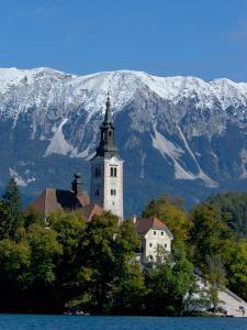 Bled Island and Julian Alps, Lake Bled, Slovenia by Lisa S. Engelbrecht