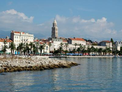 Coastal View of Embankment, Split, Croatia by Lisa S^ Engelbrecht