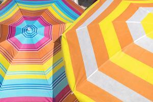 Colorful beach umbrellas by Lisa S. Engelbrecht