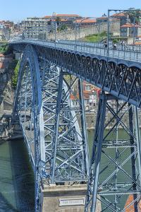Europe, Portugal, Oporto, Douro River, Dom Luis I Bridge by Lisa S. Engelbrecht