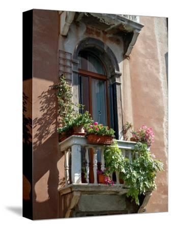 Flowers on Villa Balcony, Venice, Italy