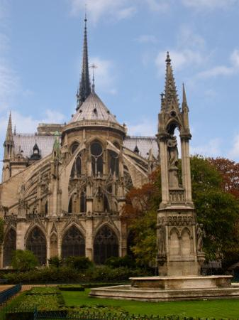 Flying Buttresses of Notre-Dame, Paris, France by Lisa S^ Engelbrecht