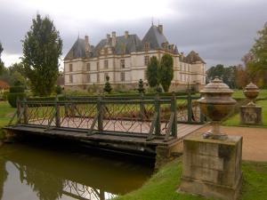 Garden of Chateau de Cormatin, Burgundy, France by Lisa S^ Engelbrecht