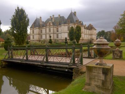 Garden of Chateau de Cormatin, Burgundy, France by Lisa S. Engelbrecht