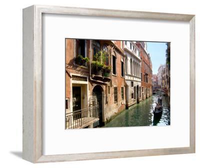 Gondolas along Canal, Venice, Italy