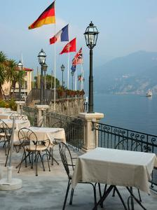 Lakeside Restaurant, Lake Como, Italy by Lisa S^ Engelbrecht