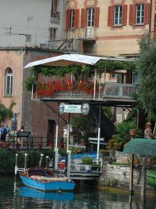 Lakeside Village Cafe, Lake Lugano, Lugano, Switzerland by Lisa S^ Engelbrecht