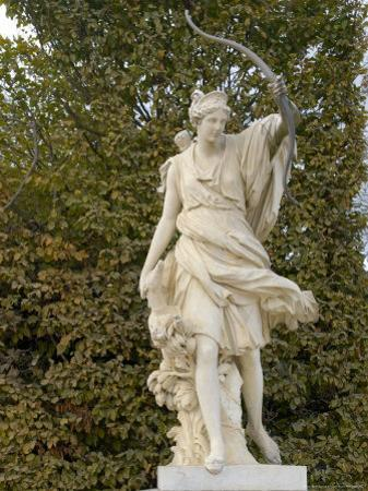 Marble Statue in Gardens, Versailles, France