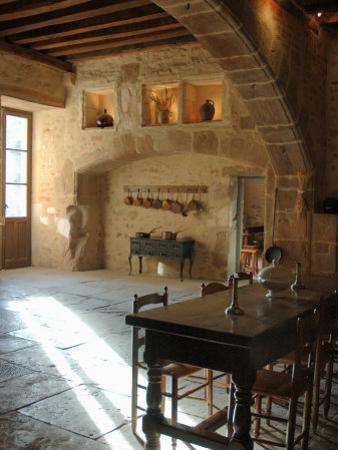 Medieval Kitchen, Chateau de Pierreclos, Burgundy, France