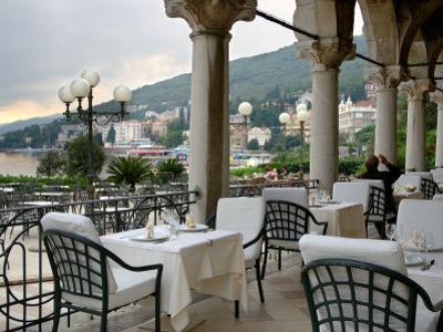 Millennium Hotel, Veranda Restaurant, Opatija, Croatia by Lisa S^ Engelbrecht