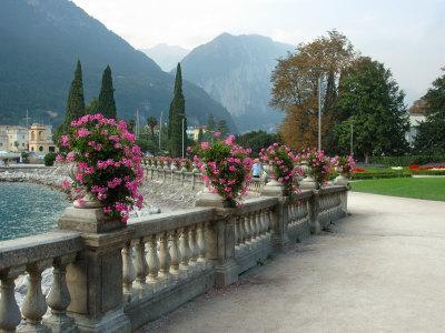 Mount Rocchetta, Riva del Garda Promenade, Lake Garda, Italy