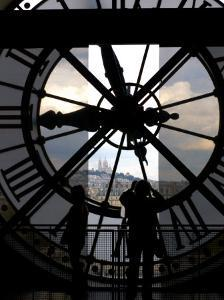 Musee d'Orsay's Clock Window, Paris, France by Lisa S. Engelbrecht
