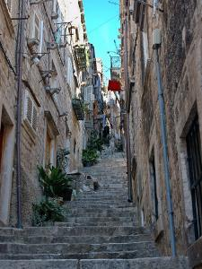 Residential Area off Main Street, Old Town, Dubrovnik, Croatia by Lisa S. Engelbrecht