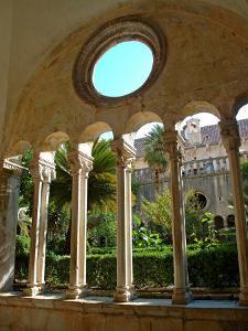 Romanesque Cloister, Franciscan Monastery, Dubrovnik, Croatia by Lisa S. Engelbrecht